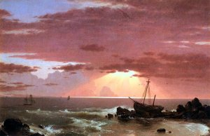 The Wreck, by Frederic Edwin Church (1826-1900)